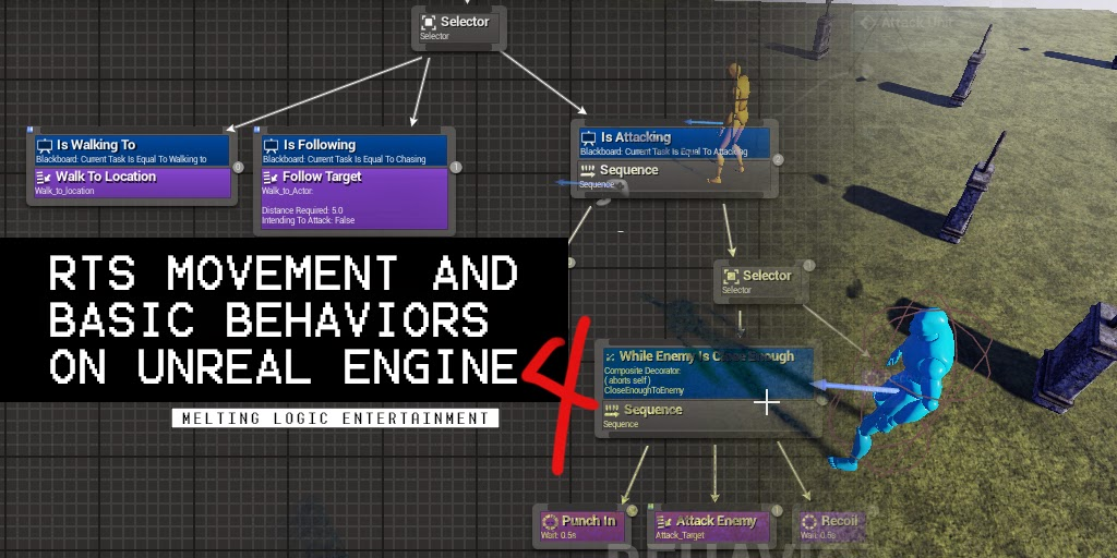 RTS Movement and Basic Behaviors on Unreal Engine 4
