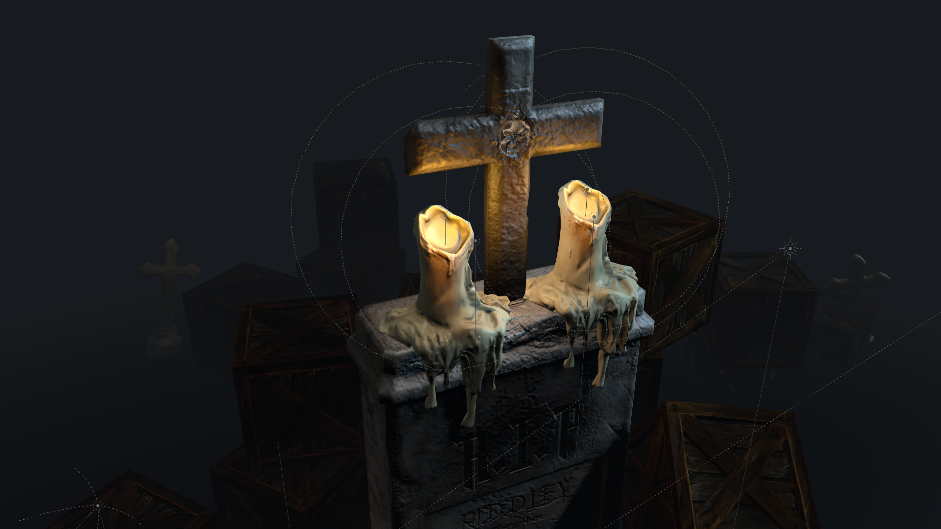 W.I.P: Melting Candles – Sculpting/Retopo